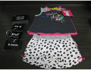 Ensemble camisole/shorts