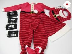 Pyjama de NOel avec Tuque et Bavoir unisexe
